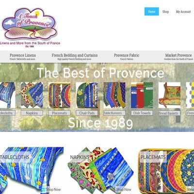 A Touch of Provence®, Linens and More from the South of France since 1989
