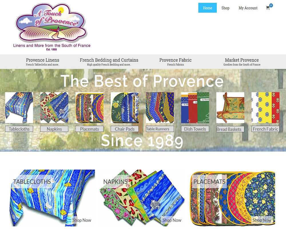 A Touch of Provence®, Linens and More from the South of France since 198