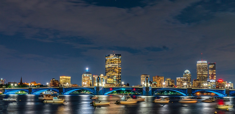 EckFoto Night Photography Long Fellow Bridge